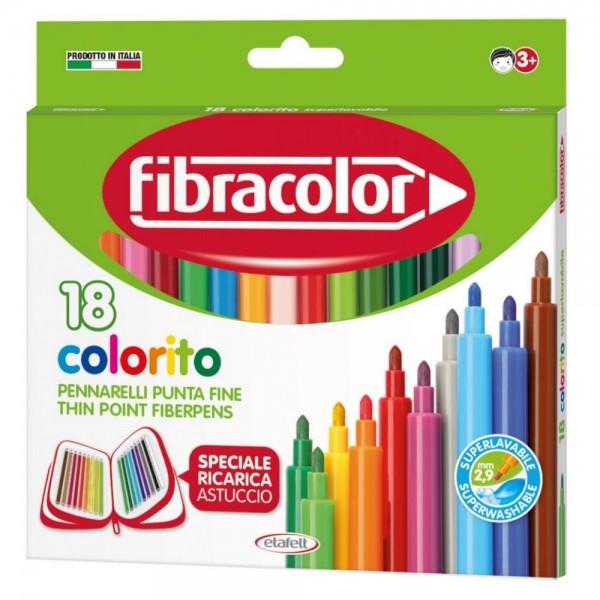 Μαρκαδοροι 18τεμ. Colorito 2.6mm 10539SW Fibracolor Μαρκαδόροι